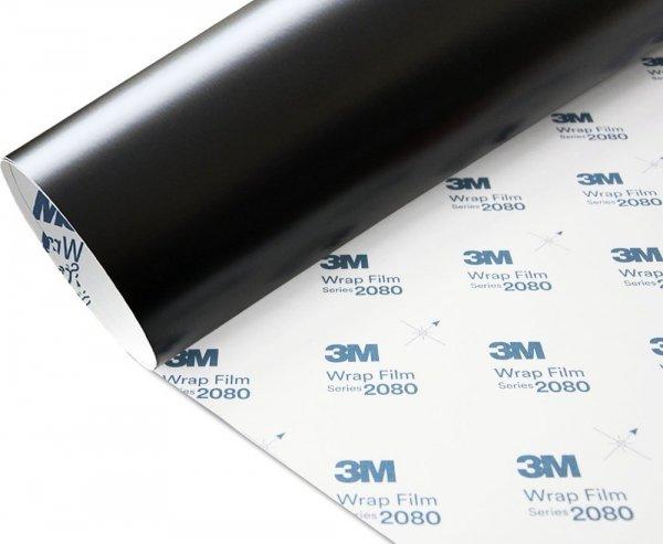 Folia Czarny Mat Satyna 3M S12 2080 152x90cm