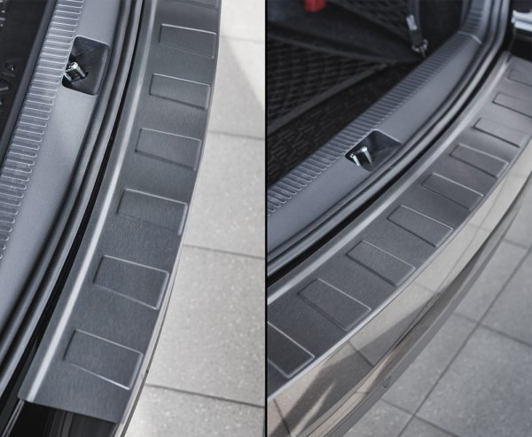 BMW 2 Gran Tourer F46 od 2015 Nakładka na zderzak TRAPEZ Czarna szczotkowana