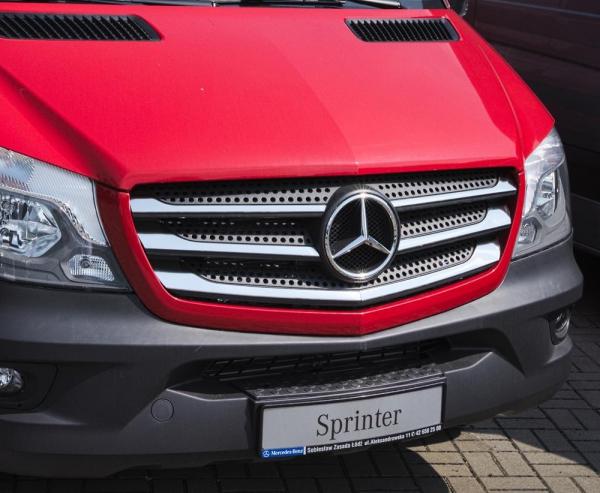 MERCEDES Sprinter W906 FL 2013-2018 Nakładki na grill stal połysk