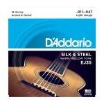 D'Addario EJ35 - Silk & Steel 12-String 11-47