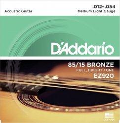 D'Addario EZ920 - 85/15 Bronze 12-54