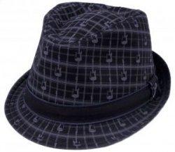 Fender Axe Plaid Fedora kapelusz