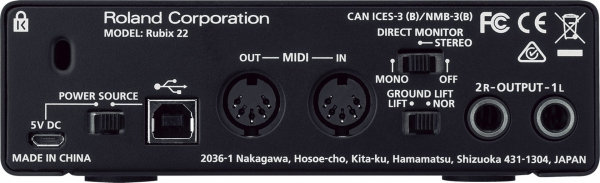 Roland Rubix 22 interfejs audio USB