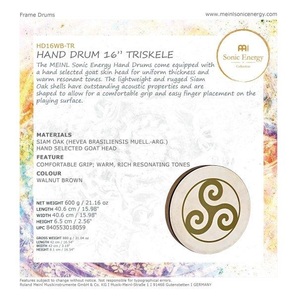 "Meinl HD16WB-TR Sonic Energy Hand Drum 16"""