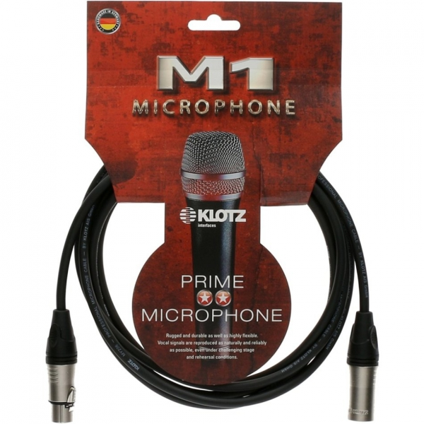 Klotz M1K1FM0100 kabel mikrofonowy 1m XLR-XLR