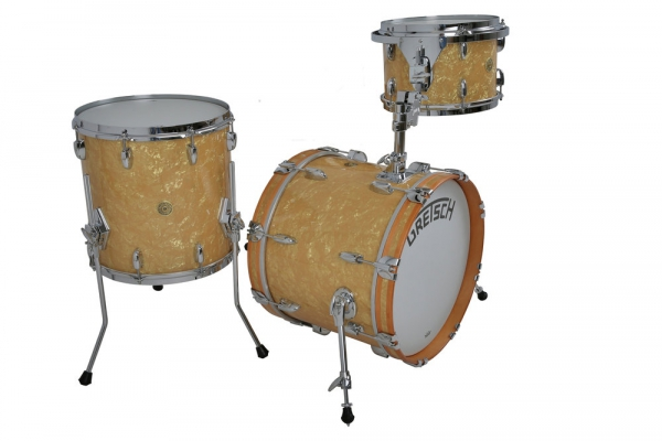 """Gretsch Broadkaster 18"""",12"""",14"""" Antique Pearl shell set"""