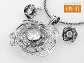 AURORA komplet srebrnej biżuterii z cyrkoniami