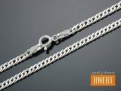 ROMB PODWÓJNY łańcuszek srebrny 45 cm / 3 mm