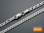 ROMB PODWÓJNY łańcuszek srebrny 55 cm / 4 mm