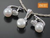 GIBA PEARL srebrny komplet biżuterii z perłami i cyrkoniami