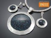 SOFIA srebrny komplet biżuterii z awenturynem