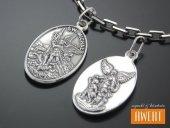 Medalik srebrny św. Michał Archanioł - Anioł Stróż