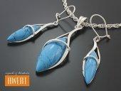 MEDO TURQUOISE srebrny komplet biżuterii z kamieniami