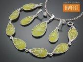 RAMONA srebrny komplet biżuterii z kwarcem