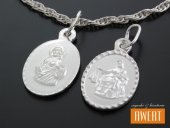 Medalik srebrny dwustronny Serce Jezusa - Matka Boska Szkaplerzna