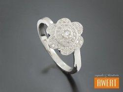 CAIA CRYSTAL srebrny pierścionek z cyrkoniami roz. 15