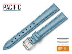 PACIFIC 14 mm pasek skórzany W114 niebieski perłowy