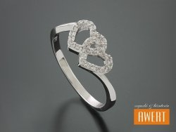 AVELAR CRYSTAL srebrny pierścionek z cyrkoniami roz. 17