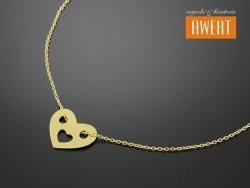 HEART GOLD srebrny naszyjnik pozłacany
