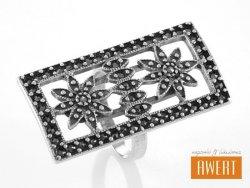 GEDI MARCASITE srebrny pierścień z markazytami roz.18