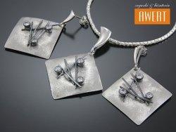 ART ACHTECK srebrny komplet biżuterii z cyrkoniami