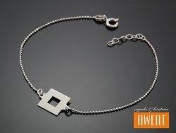 SQUARE SILVER srebrna bransoletka 19,5 cm