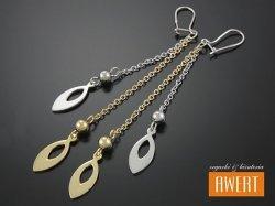 AMARA SILVER & GOLD kolczyki srebrne pozłacane
