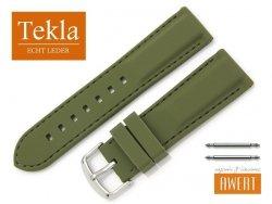 TEKLA 24 mm pasek silikonowy TS01 zielony