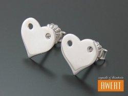HEART SILVER kolczyki srebrne serduszka