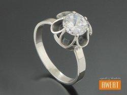 DALIA srebrny pierścionek z cyrkonią roz. 16