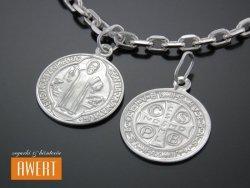 Medalik srebrny Św. Benedykt