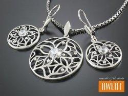 JAREN CRYSTAL srebrny komplet z cyrkoniami