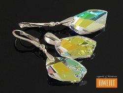 AVANT-GARDE CRYSTAL AB srebrny komplet z kryształami SWAROVSKI