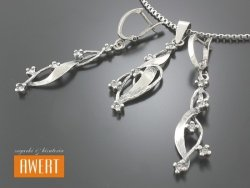 CASEY CRYSTAL srebrny komplet z cyrkoniami