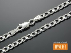 PANCERKA łańcuch srebrny 45 cm / 4,3 mm