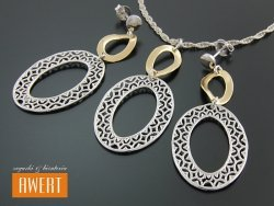 EVELIN GOLD srebrny komplet biżuterii