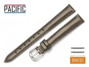 PACIFIC 12 mm pasek skórzany W114 brązowy perłowy