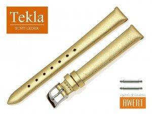 TEKLA 12 mm pasek skórzany PT11 złoty