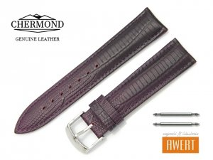 CHERMOND 20 mm pasek skórzany C103 fiolet