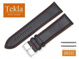 TEKLA 26 XL mm pasek skórzany PT68 czerwone szycie