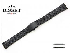 BISSET 16 mm bransoleta stalowa BR106 czarna