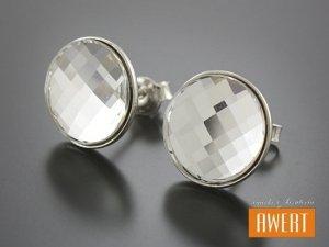 LELLE SWAROVSKI kolczyki srebrne z kryształami