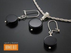DRUGS STONE srebrny komplet biżuterii z kamieniami