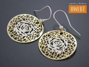 ROSE GOLD srebrny komplet biżuterii pozłacany