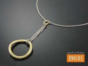GETA GOLD srebrny naszyjnik złocenie