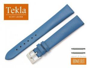 TEKLA 14 mm pasek skórzany PT16 niebieski