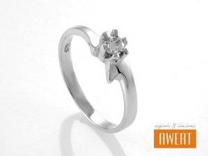 AGATKA CRYSTAL srebrny pierścionek z cyrkonią roz.12