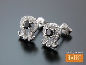 KOHMA CRYSTAL kolczyki srebrne z cyrkoniami