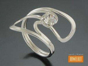 BELICA CRYSTAL srebrny pierścionek z cyrkonią roz.15