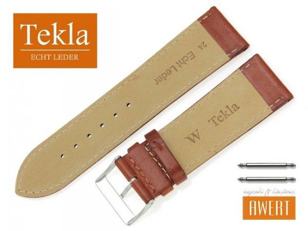 TEKLA 24 mm pasek skórzany PT68 brązowy